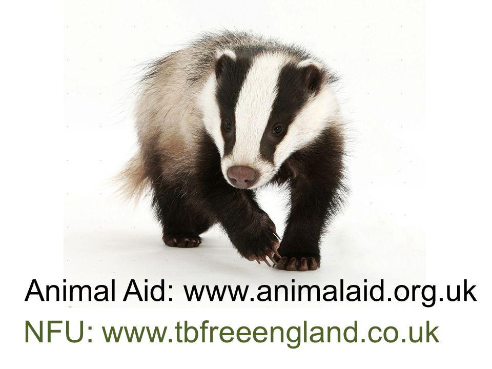 Animal Aid: www.animalaid.org.uk NFU: www.tbfreeengland.co.uk