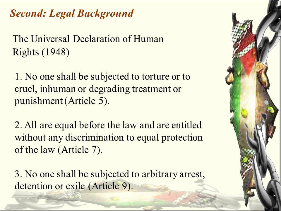 On 17/12/2011, Khodr 'Adnan began a hunger strike immediately after his administrative detention.