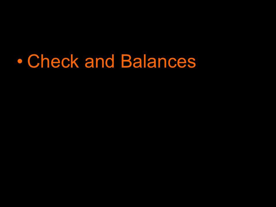 Check and Balances