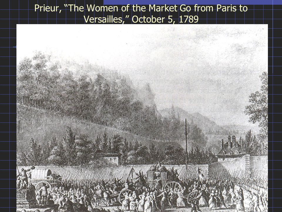 Prieur, The Women of the Market Go from Paris to Versailles, October 5, 1789