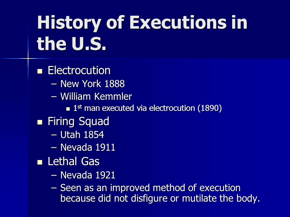 History of Executions in the U.S.