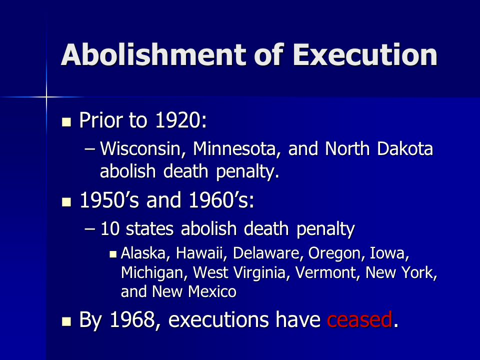 Well-Publicized Executions Most studies have found no effect in decline of homicides after well publicized executions, while some discover homicides increase after the execution.