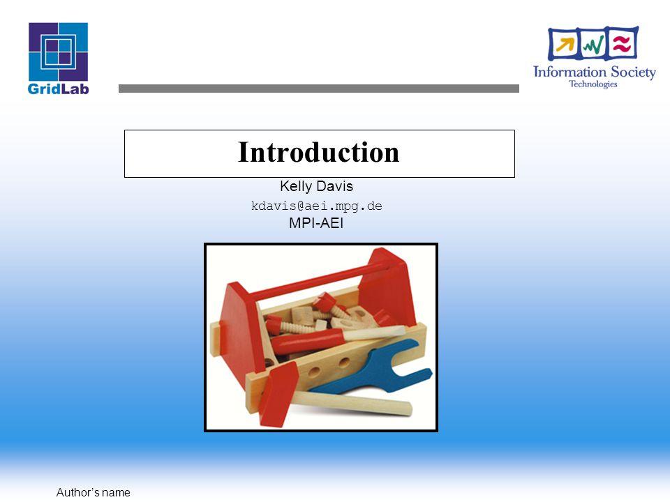 Author's name GAT Interface Model Example: GATFile…