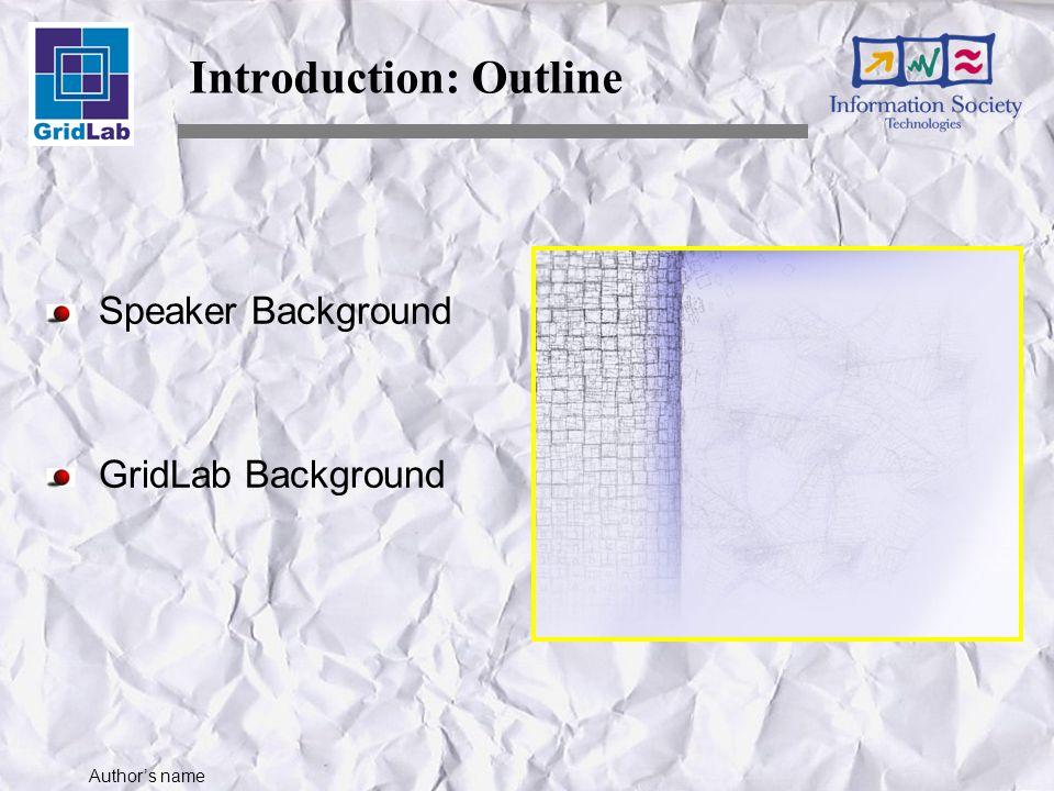 Author's name Installation Set Environment echo $GAT_LOCATION
