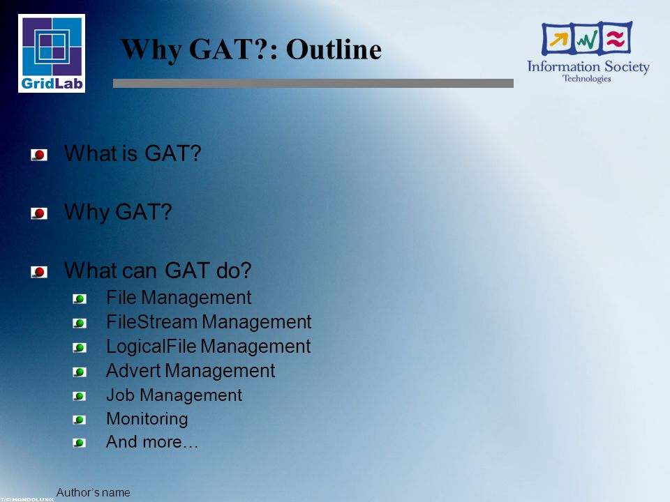 Author's name What can GAT Do.