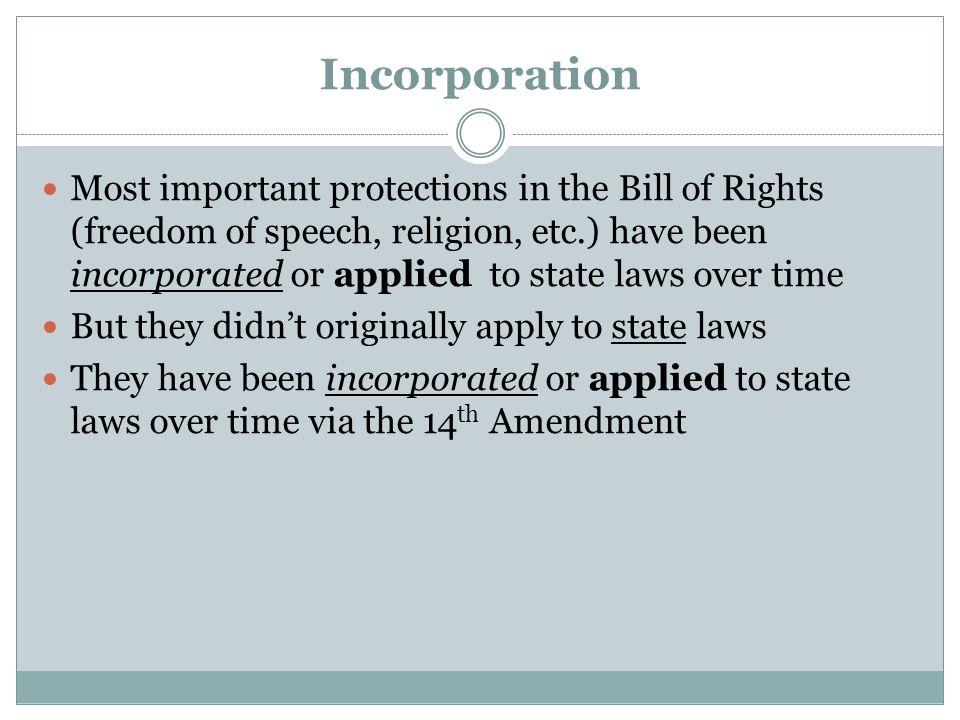 Incorporation—the Process Barron v.