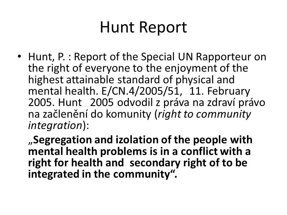 Hunt Report Hunt, P.