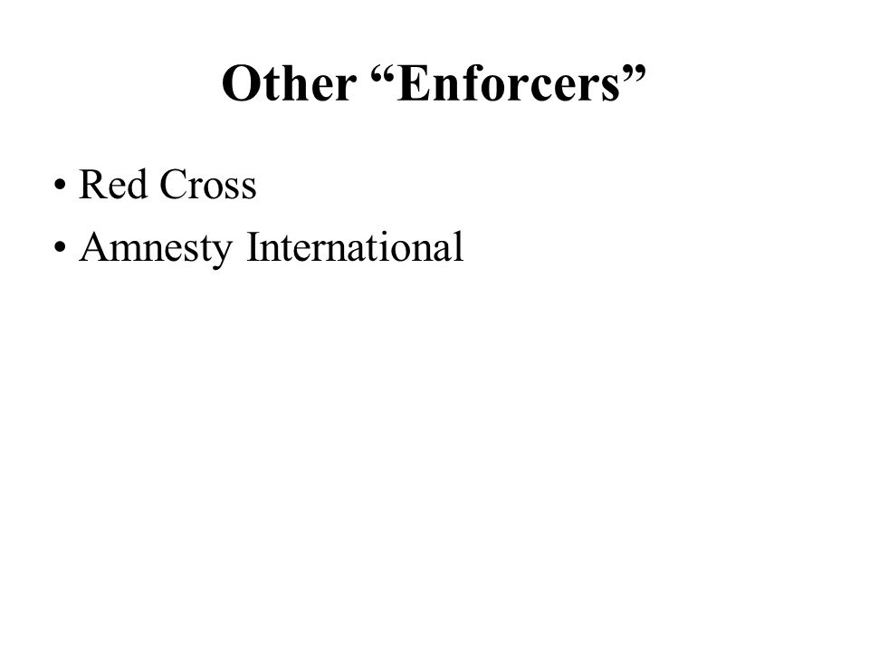 Other Enforcers Red Cross Amnesty International