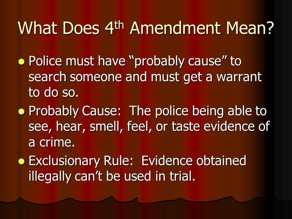 What Does 4 th Amendment Mean.