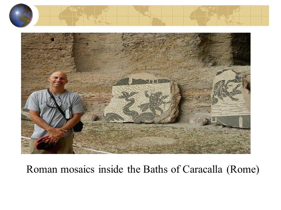 Roman mosaics inside the Baths of Caracalla (Rome)