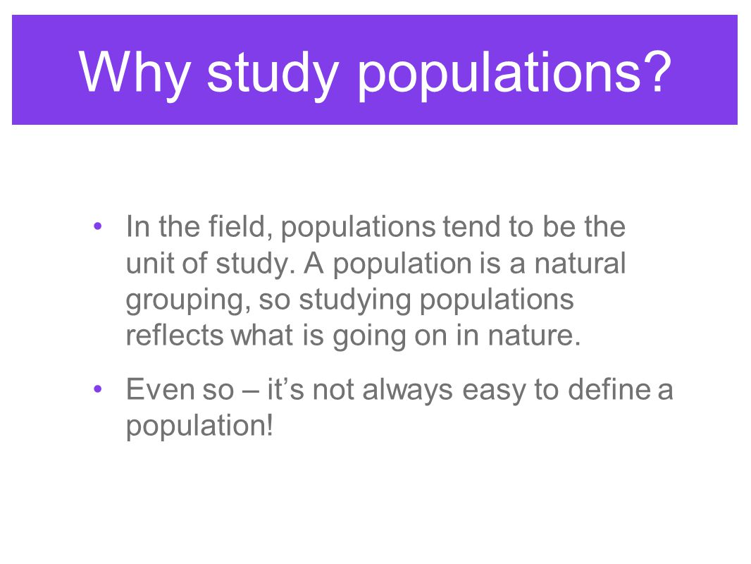 Exponential Growth Age of first reproduction affects the rate of population growth. Why?