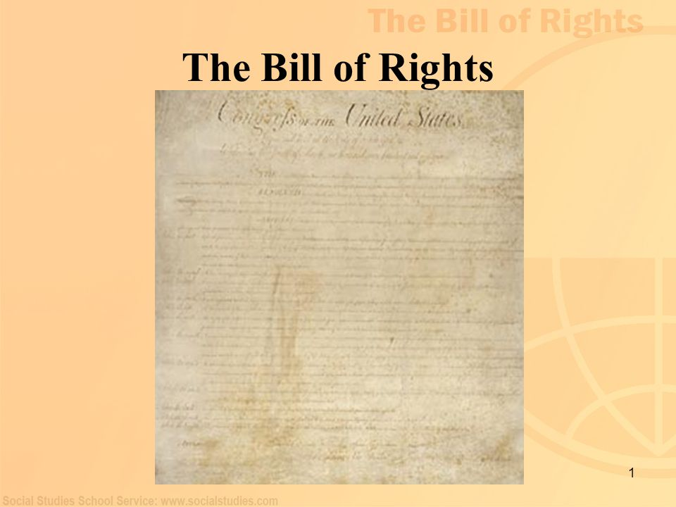 1 The Bill of Rights