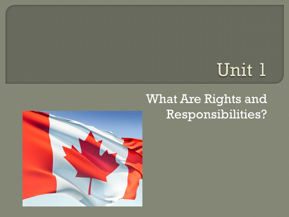 What Are Rights and Responsibilities?
