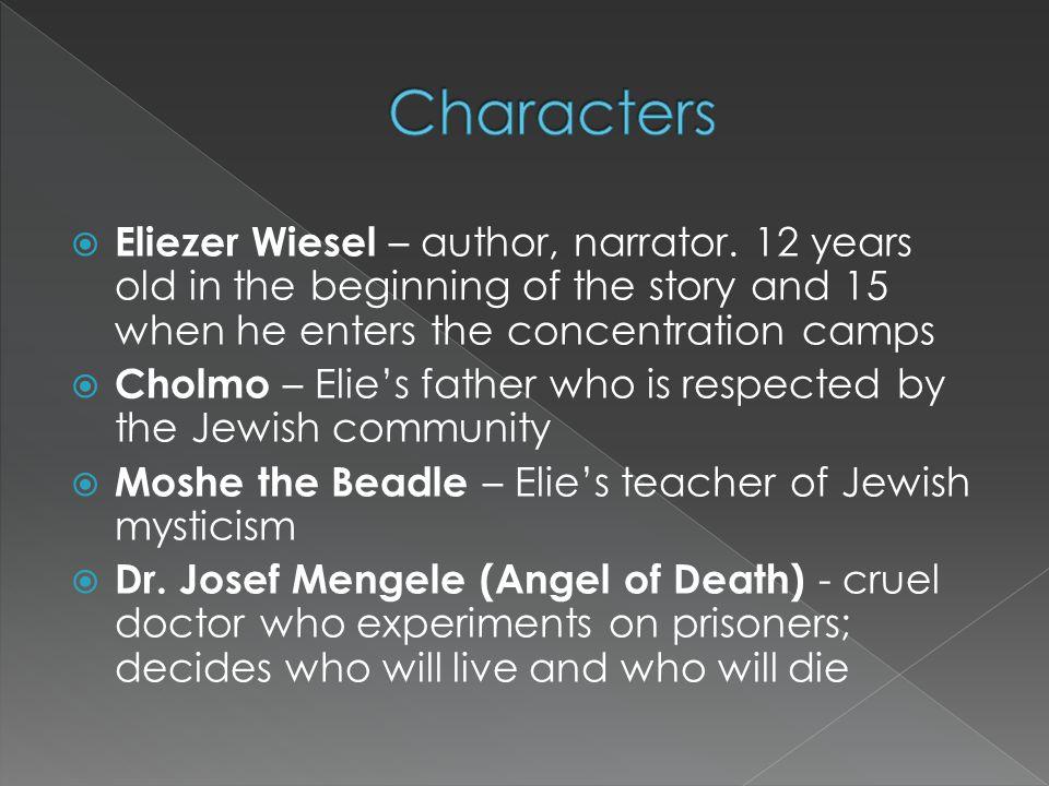  Eliezer Wiesel – author, narrator.