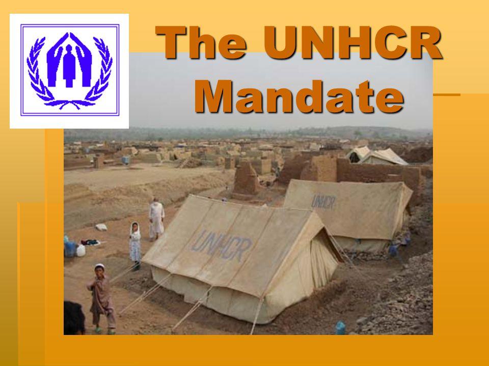 The UNHCR Mandate