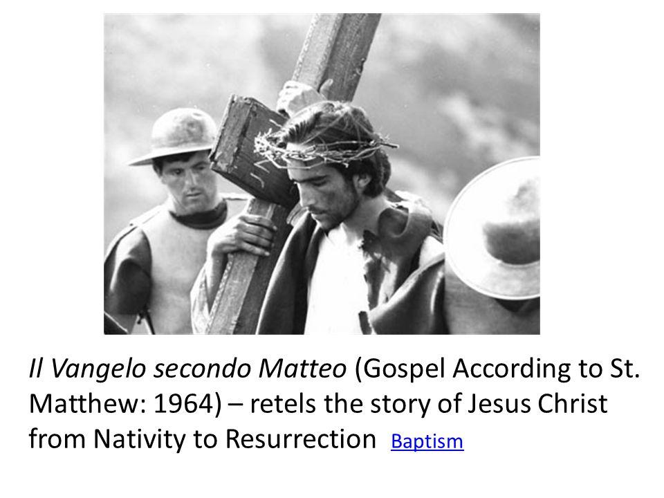 Il Vangelo secondo Matteo (Gospel According to St.