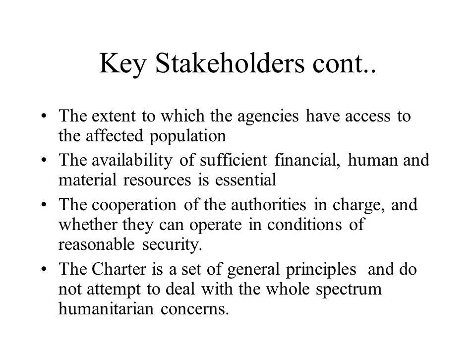 Principles of the humanitarian Charter 1.