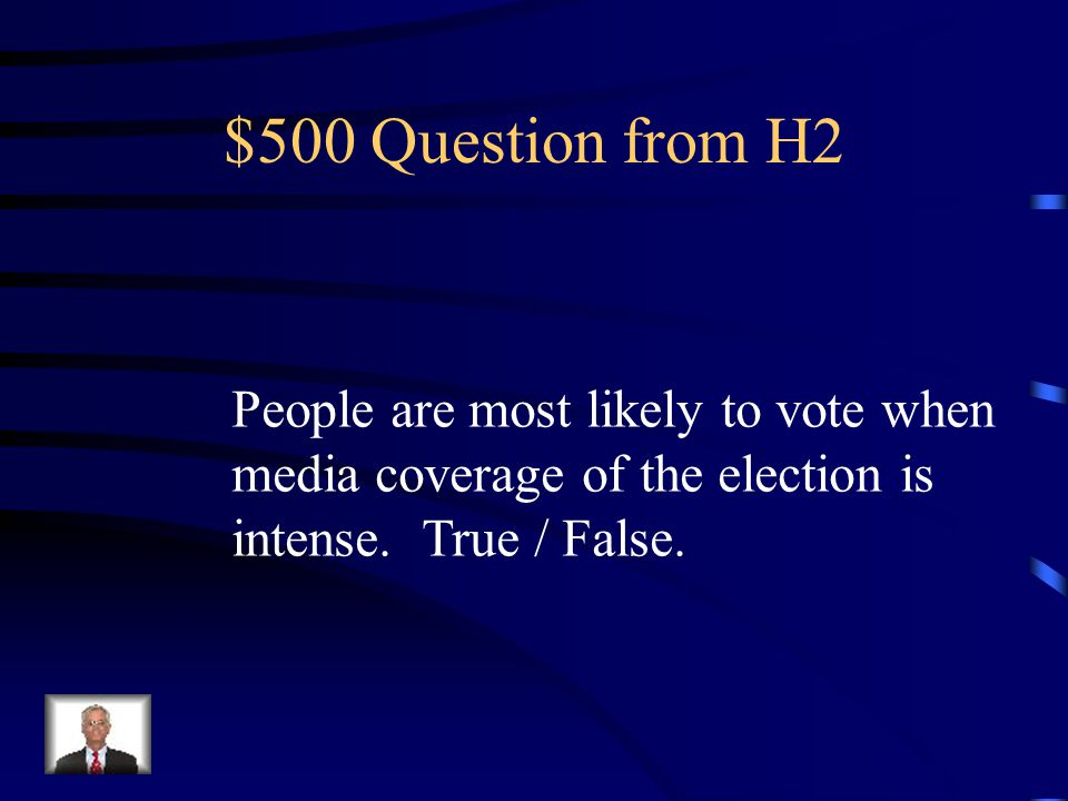 $400 Answer from H2 Media.