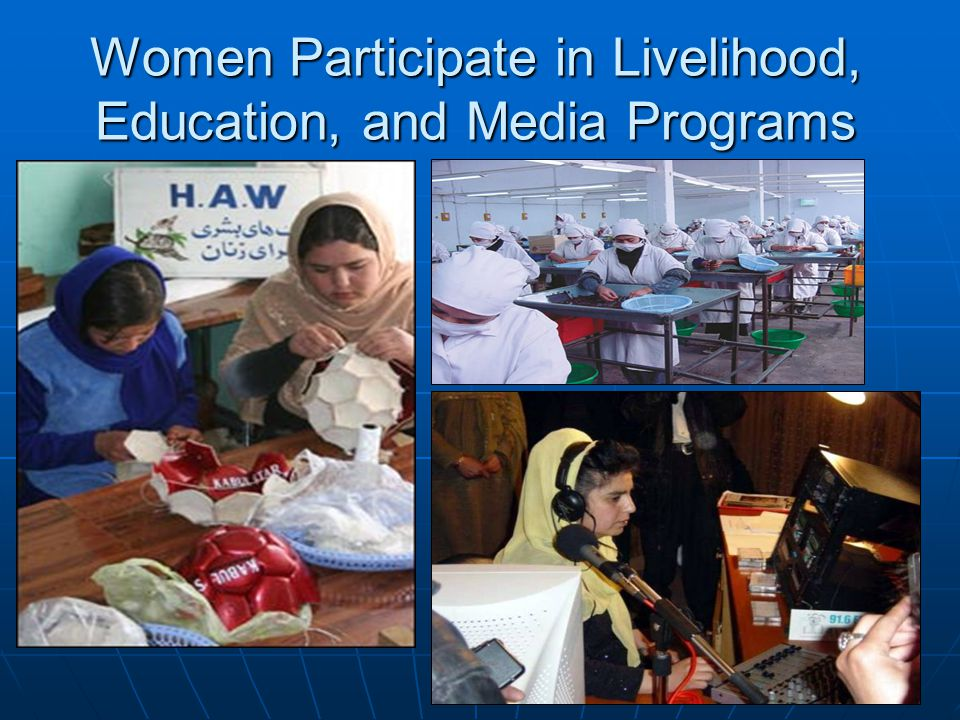 Women Participate in Livelihood, Education, and Media Programs