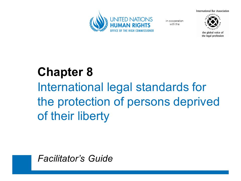 Facilitator's GuideChapter 8 Key legal texts V The European Convention on Human Rights, article 3: No one shall be subjected to torture or to inhuman or degrading treatment or punishment.
