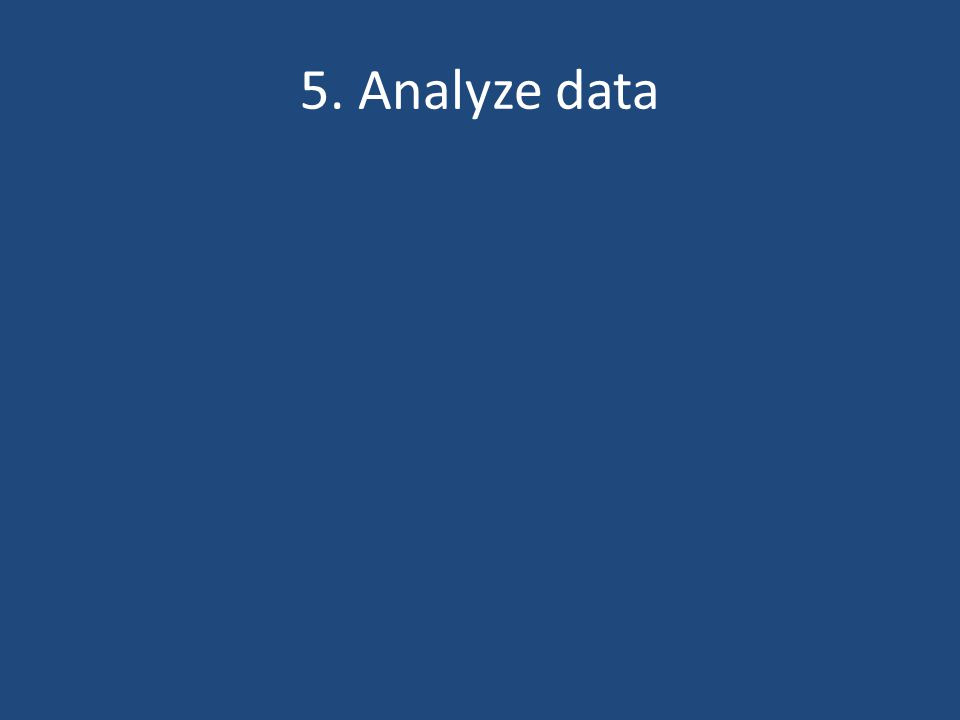 5. Analyze data