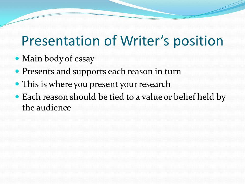 positioning essay