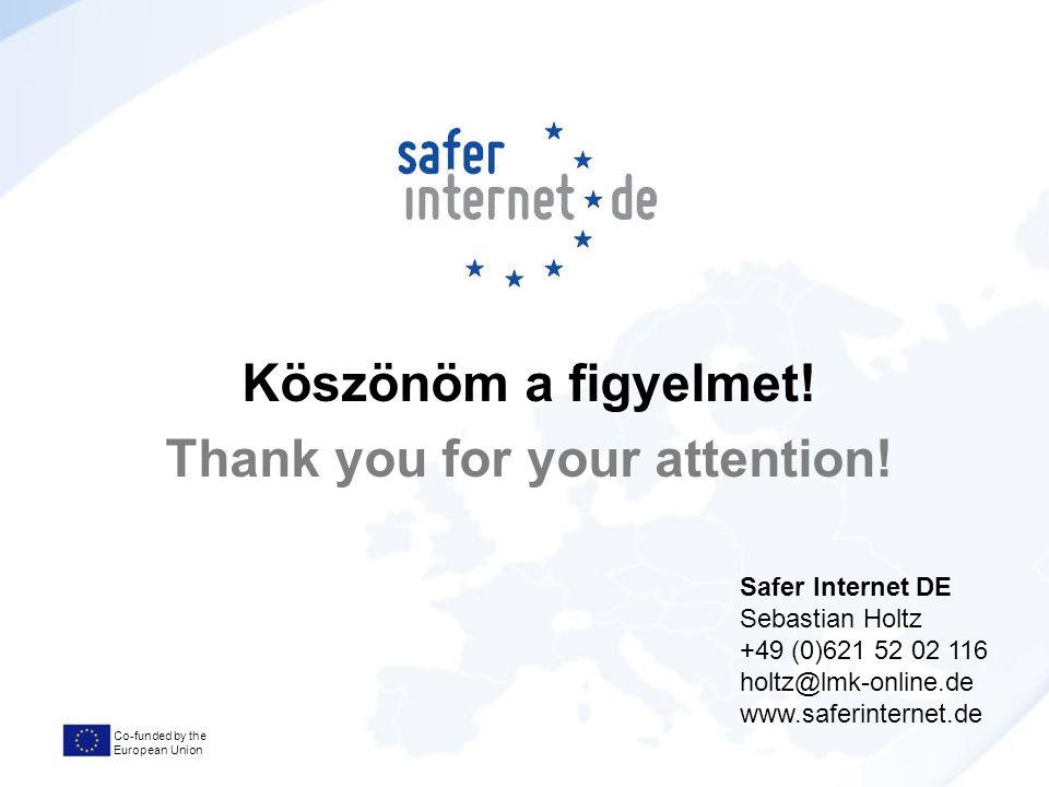 Co-funded by the European Union Köszönöm a figyelmet.