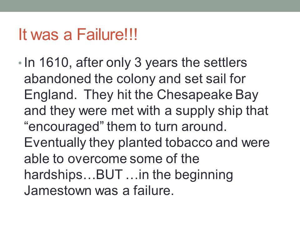 It was a Failure!!.