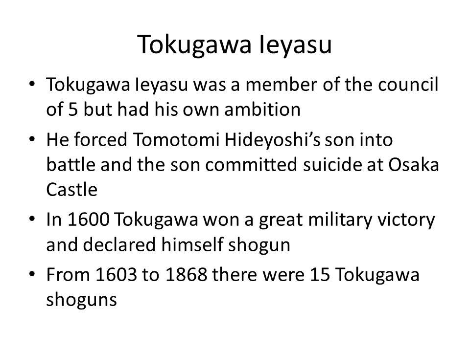 Tokugawa Shogunate Ieyasu set up his capital in a small fishing village called Edo.