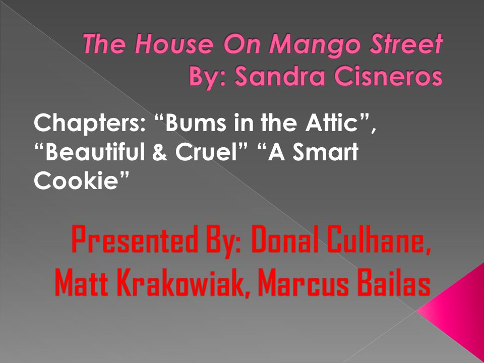 Chapters: Bums in the Attic , Beautiful & Cruel A Smart Cookie