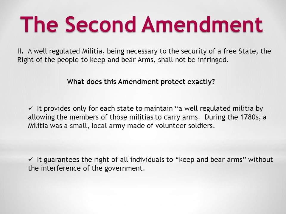 The Third Amendment III.