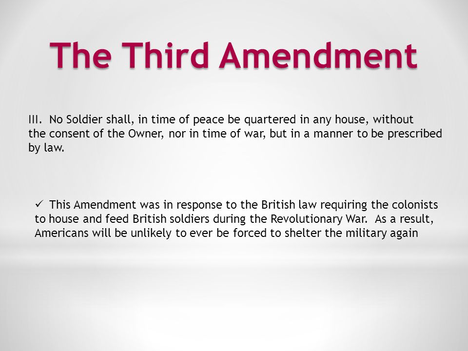 The Fourth Amendment IV.