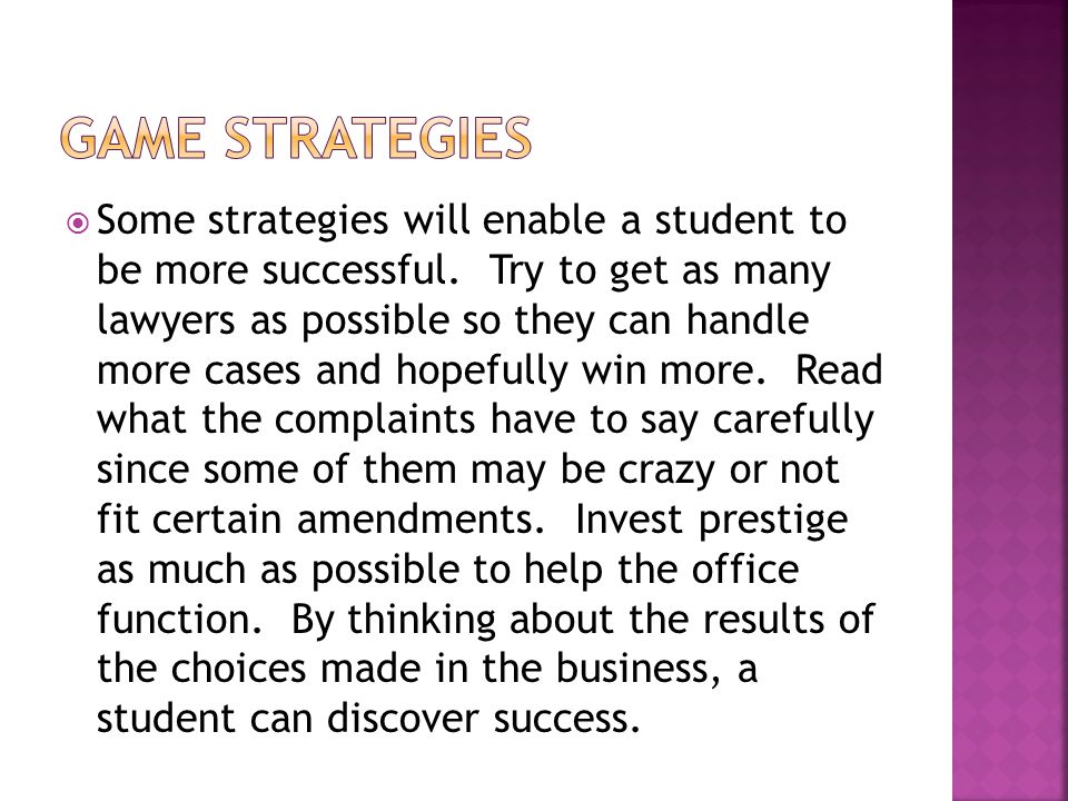  Some strategies will enable a student to be more successful.