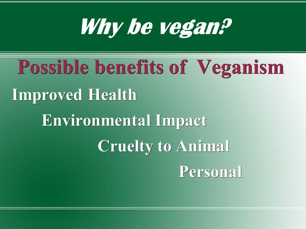 Why be vegan.