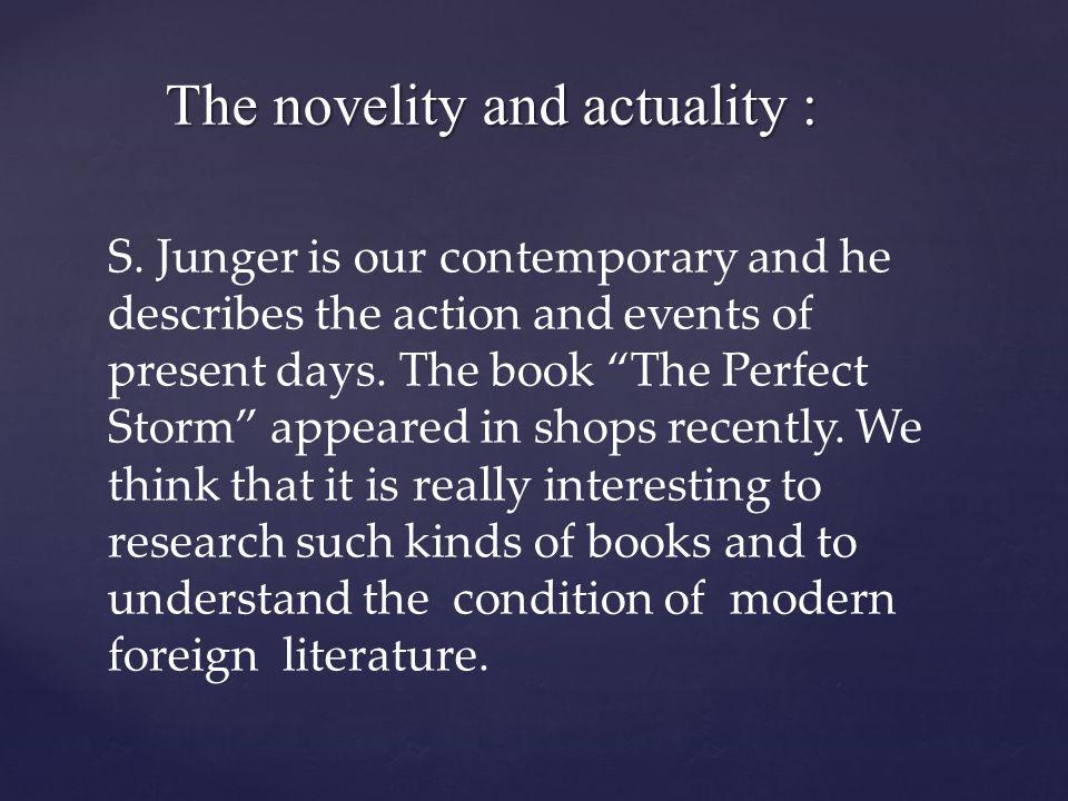 The novelity and actuality : The novelity and actuality : S.