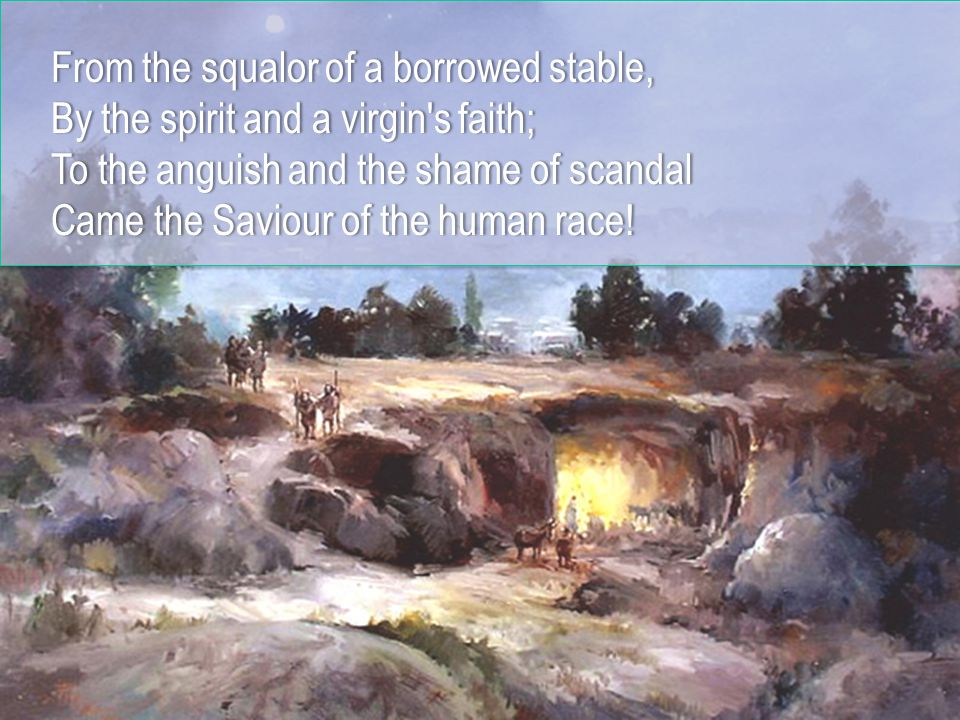 But the skies were filled, with the praise of heav n,But the skies were filled, with the praise of heav n, Shepherds listen as the angels tellShepherds listen as the angels tell Of the Gift of God, come down to manOf the Gift of God, come down to man At the dawning of EmmanuelAt the dawning of Emmanuel