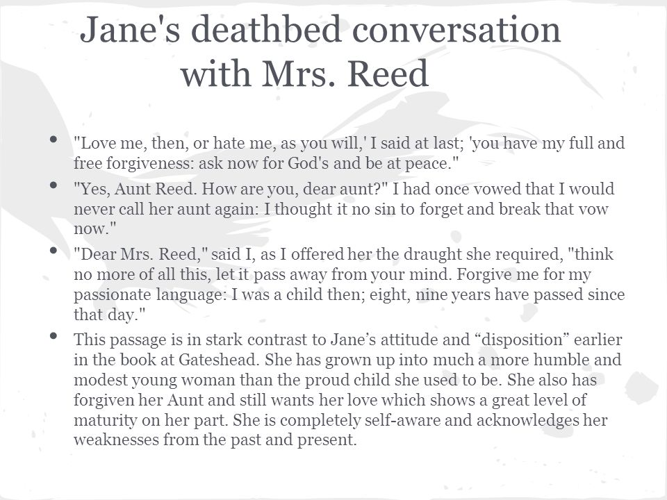 Jane s deathbed conversation with Mrs.