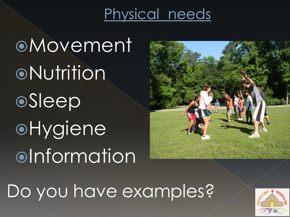  Movement  Nutrition  Sleep  Hygiene  Information Do you have examples