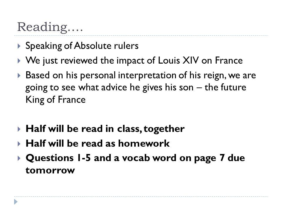 Reading….