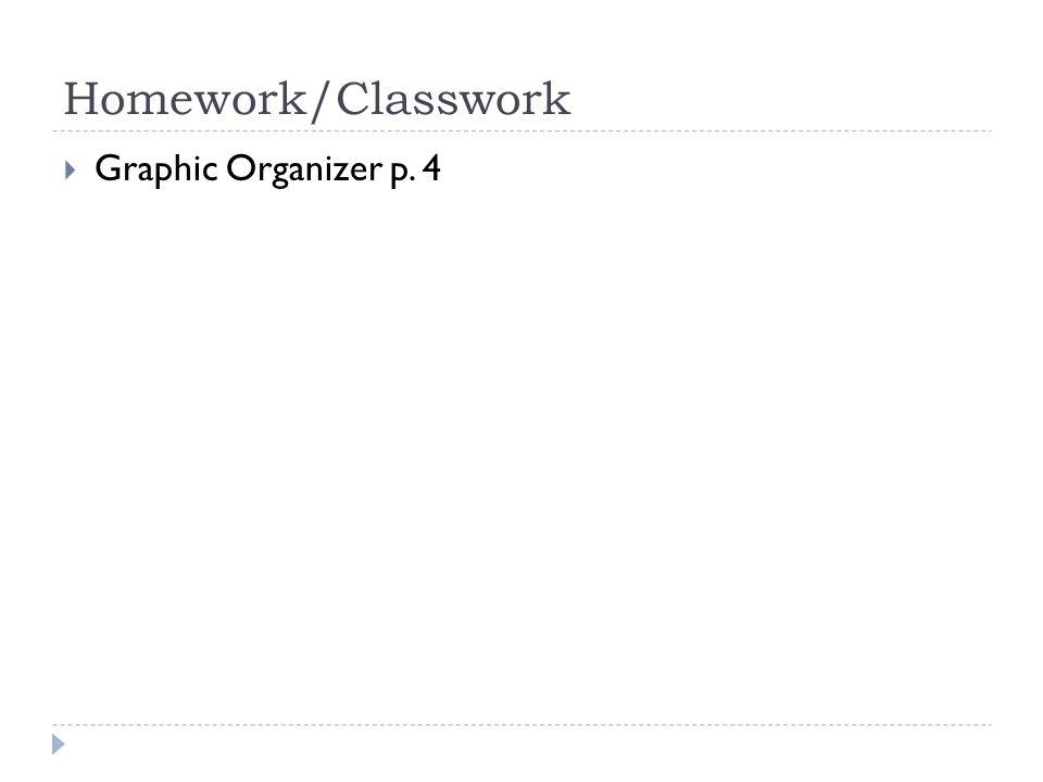Homework/Classwork  Graphic Organizer p. 4