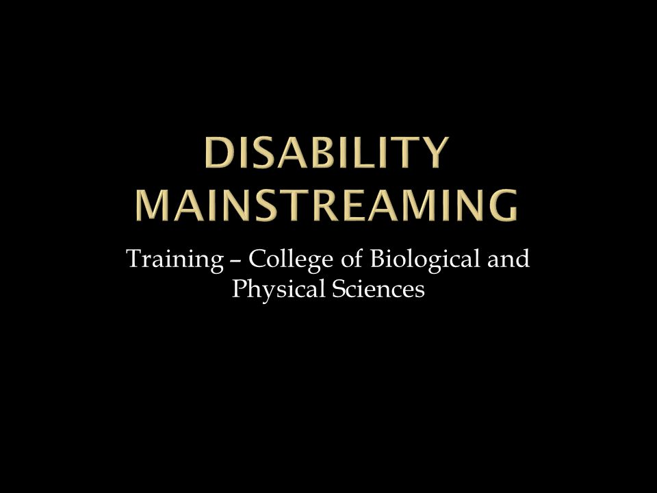 Training – College of Biological and Physical Sciences