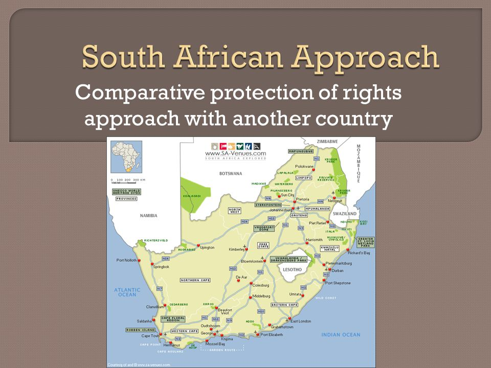 Comparative protection of rights approach with another country
