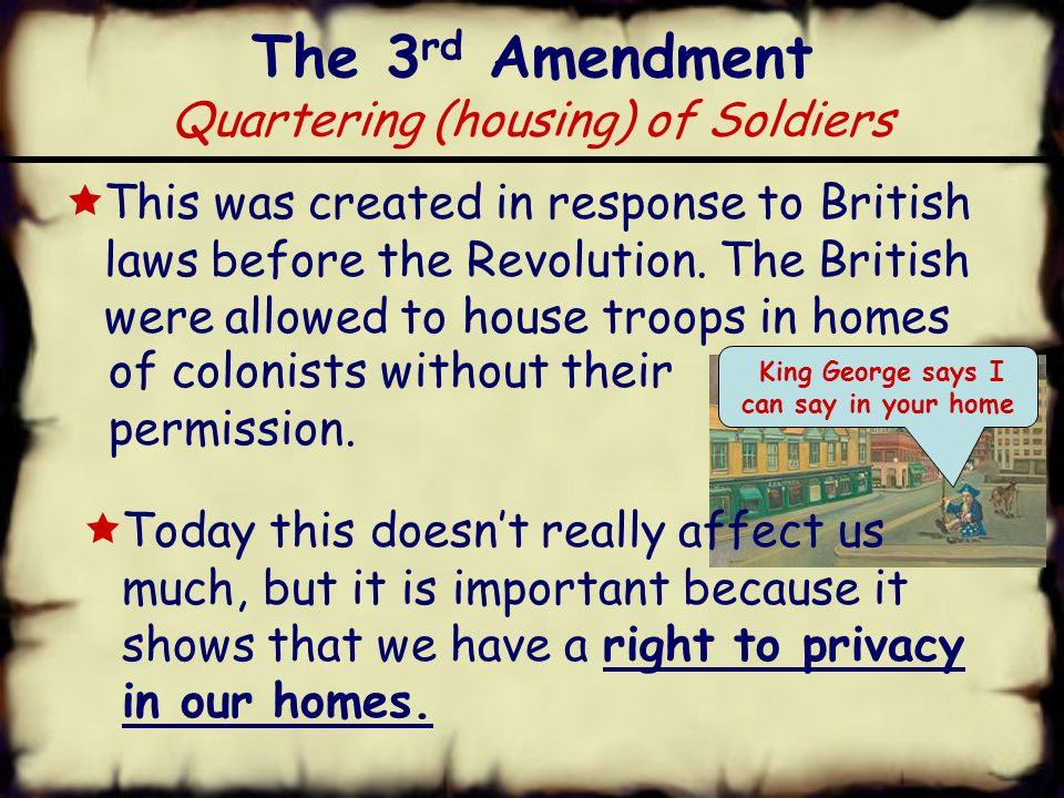 The 2 nd Amendment Right to Bear Arms  A well regulated Militia, being necessary to the security of a free State, the right of the people to keep and bear Arms, shall not be infringed.