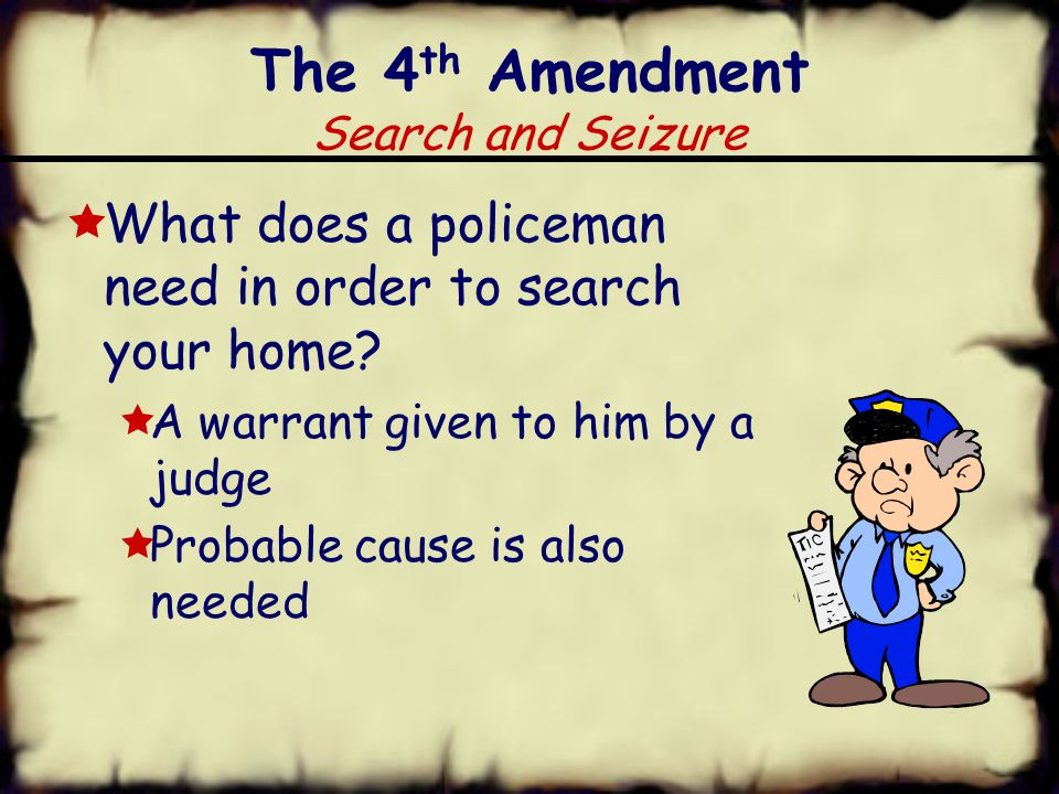 King George says I can say in your home The 3 rd Amendment Quartering (housing) of Soldiers  This was created in response to British laws before the Revolution.