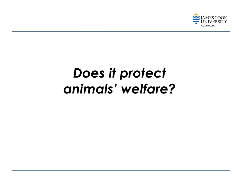 Does it protect animals' welfare