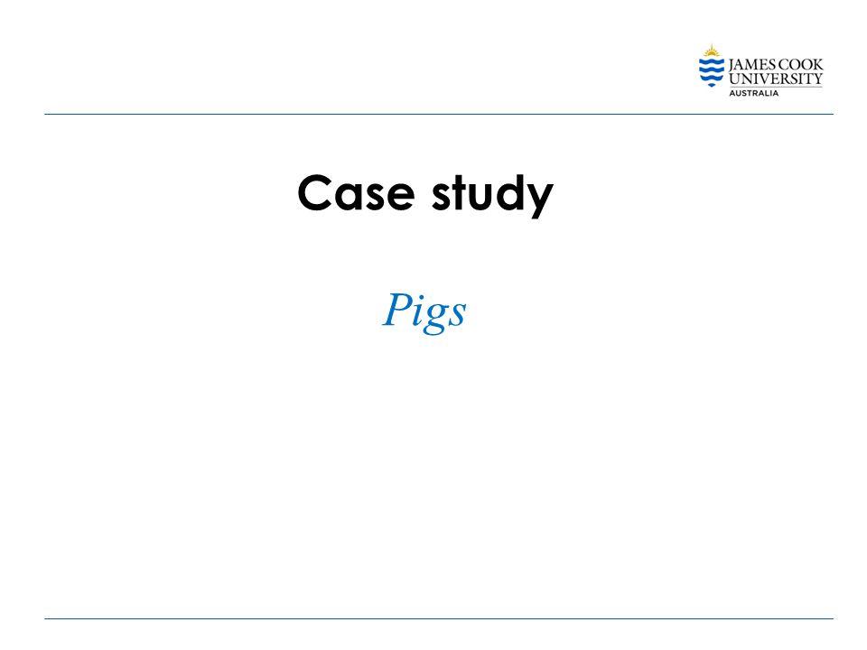 Case study Pigs