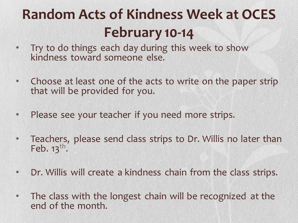 Just For Fun Create a kindness bulletin board.
