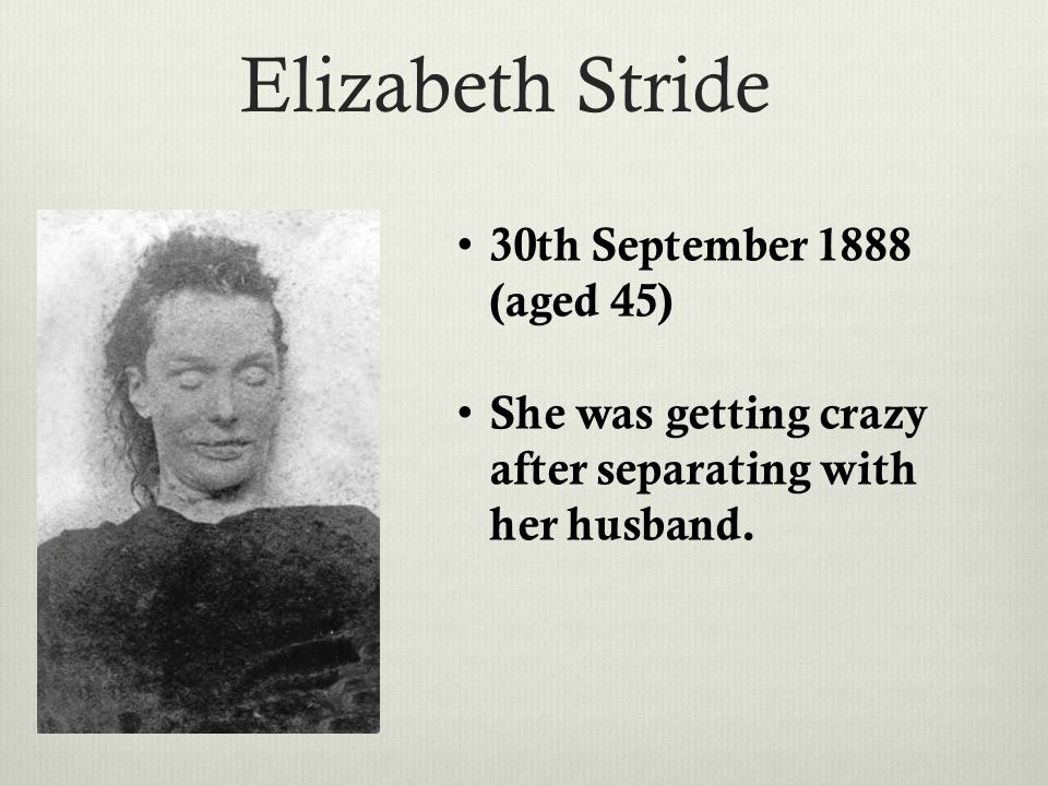 Catherine Eddowes 30th September 1888 Was detained the day before she died.
