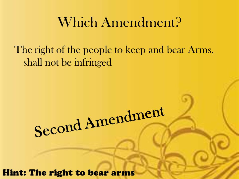 Which Amendment.