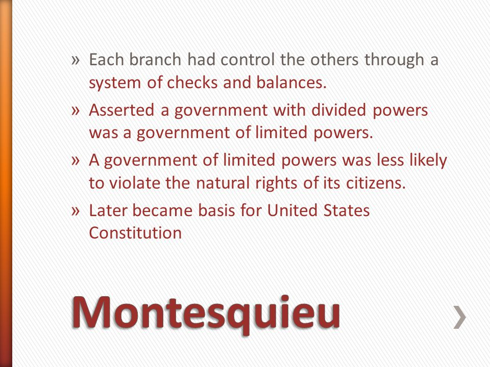 » Beccaria based his ideas about justice on the principle that governments should seek the greatest good for the greatest number of people » His ideas influenced criminal law reformers in Europe and North America » 8 th Amendment-outlaws unusual and cruel punishment